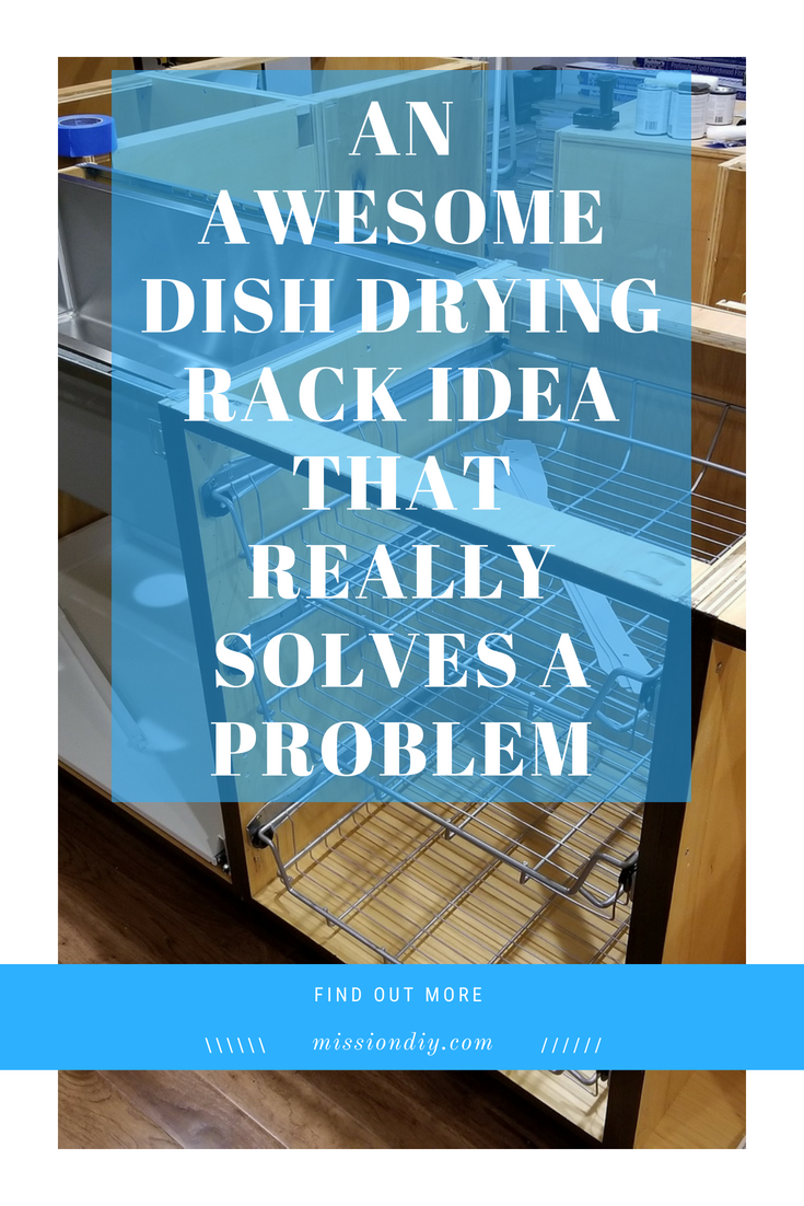 dish drying rack that solves the problem of ugly dishes
